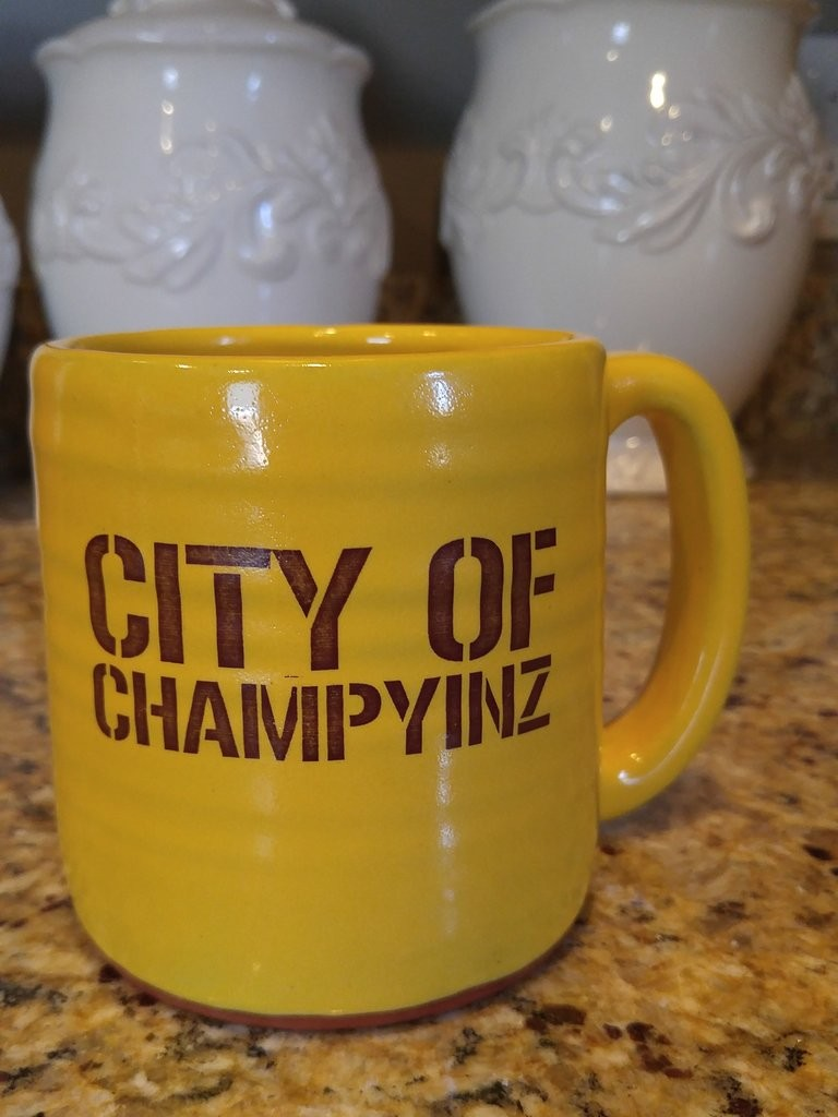 I had to take this opportunity to show off my favorite Pittsburgh coffee mug.