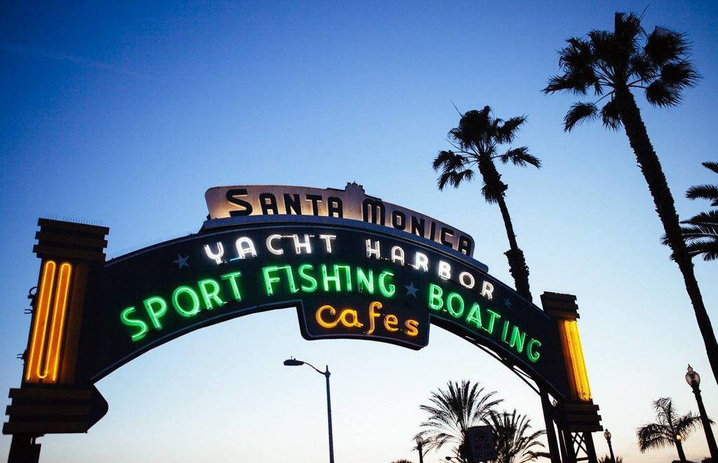 Venice beach to santa monica pier