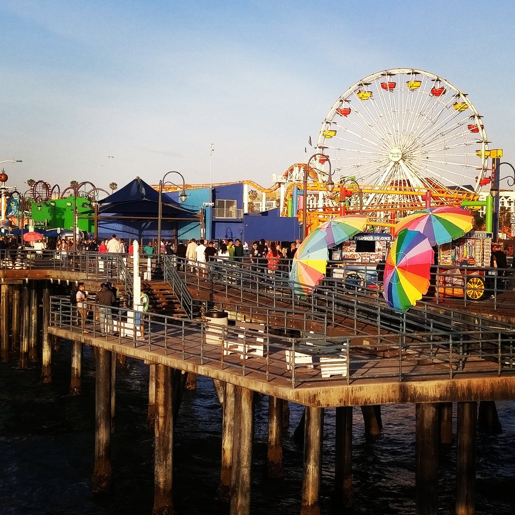One Day In Los Angeles Venice Beach And The Santa Monica Pier Sunset Scenic States
