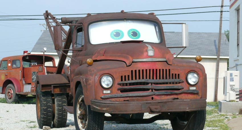 Mater on Route 66