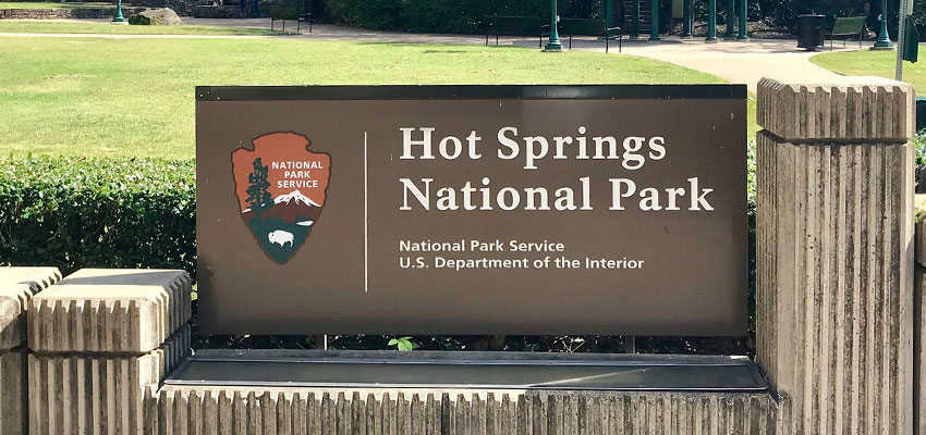 Hot Springs National Park Sign