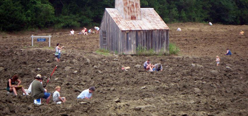 Diamond digging in Arkansas