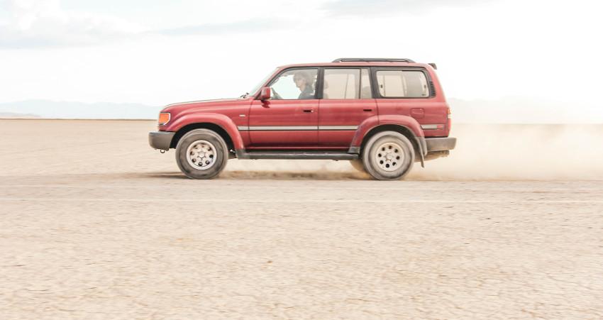 Driving in Alvord Desert