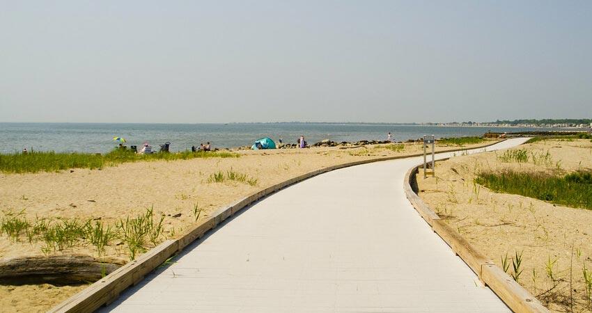 Silver Sands State Park Beach
