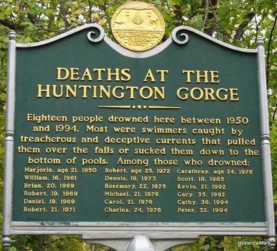 05 Huntington Gorge List of Deaths - Richmond, Vermont