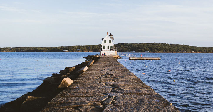 Rockland lighthouse in Maine