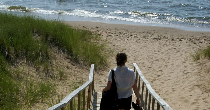 Oval Beach in iMichigan